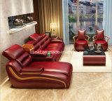 Sofá de couro da sala de visitas para a mobília da HOME do projeto do hotel (HX-SN062)