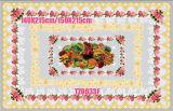 Tablecloth transparente impresso PVC redondo de 140*215cm do projeto independente