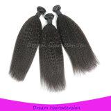 Человеческие волосы бразильского Kinky Weave прямых волос реальные