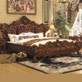 침실 가구를 위한 나무로 되는 침대는 놓았다 (A05)