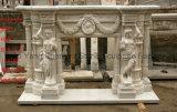 Marmeren Open haard van de Open haard van de Open haard van het beeldhouwwerk de Europese