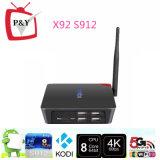 P&Y Pendoo Amlogic S912 Octa Kern Google Android 6.0 X92 2g 16g Kodi Fernsehapparat-Kasten-Fabrik-Preis 17.0