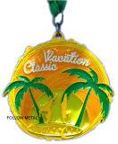 かえでが付いている昇進のギフトのためのブランクメダルはロゴを去る