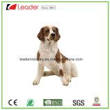 Estátua pintada mão do cão de Polyresin para a decoração interna e ao ar livre