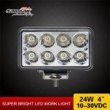24W 4 polegadas - luz Offroad quadrada do trabalho do diodo emissor de luz 4X4 do poder superior