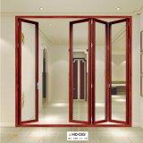 Portello di piegatura esterno di vetro infrangibile del francese di alluminio di legno insonorizzato di colore