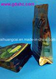 Unteres flaches seitliches Stützblech-Fastfood- Aluminiumfolie-Nahrungsmittelbeutel