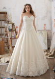 Tulle Ballgown отличает кристаллический Beaded платьем венчания