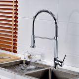 Tarauds de cuisine de chrome de traction de robinet de mélangeur de bassin de cuisine de type de ressort de Flg