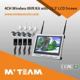 """12.5 """" наборов камера и видеоконтрольное устройство экрана 4CH NVR дюйма беспроволочных"""