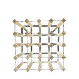 Metal de 12 botellas y estante de visualización de madera del sostenedor del estante del vino