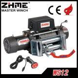 torno eléctrico de gran alcance 12000lbs con el motor de la C.C. 12V/24V