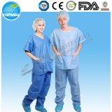 PP paciente vestido, Pijamas, bata de aislamiento con mangas cortas