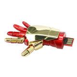 Vengadores Pendrive del mecanismo impulsor de la pluma de las maravillas del palillo del USB del guante del hombre del hierro