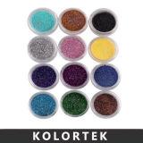 Le scintillement s'écaille la poudre d'art de clou, scintillement coloré à vendre