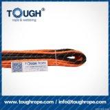 Fibra 100% resistente de Uhwmpe da corda da corda sintética do guincho Orange11mmx28m4X4