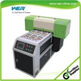 Impressora do cartão do PVC da cor do verniz da cabeça A1 dois Dx5 com alta resolução