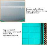 Cubeta plástica quadrada de grau alimentar de HDL de 15 litros / PP