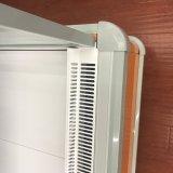 Refrigerador aberto do indicador do supermercado dos produtos láteos da parte dianteira de Multideck