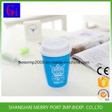 Copo plástico da venda por atacado Eco-Friendly do preço de fábrica com tampa e palha