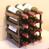 12 Flaschen-praktische hölzerne Wein-Speicher-Ausstellungsstand-Flaschen-Zahnstange