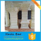 中国Factotyの装飾のための自然な花こう岩または大理石の石造りのローマのコラムの柱