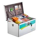 Boîte de premiers secours à verrouillage de poignée portable à 12 pouces en métal