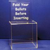 明確なアクリルの投票ボックスをカスタマイズしなさい