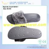 Women Slide Sandal EVA Sole Peluches Fur Slippers Colorful Upper Fur