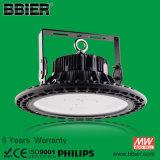 5 maakt de jaar van de Garantie 150lm/W IP66 Licht van de Baai van het UFO het Hoge met Bestuurder Meanwell waterdicht