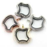 hart van 30mm nam het Gouden Geplateerde Medaillon van de Tegenhanger van de Halsband met Kristal toe