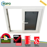 PVC에 의하여 이중 유리로 끼워지는 Windows 의 플라스틱 슬라이딩 윈도우