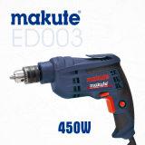 Taladro eléctrico de la herramienta eléctrica 450W de Makute 10m m (ED003)