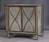 Мебель таблицы зеркала воспроизводства деревянная бортовая с золотистым восхождением на борт