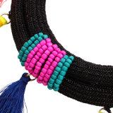 De Parels van Bohemen van de manier vlechtten de Kleurrijke Juwelen van de Halsband van de Verklaring van de Nauwsluitende halsketting van de Leeswijzer