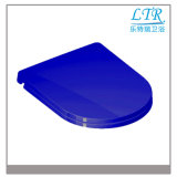 Piatto blu speciale delle sedi di toletta con le cerniere di fine di morbidezza della toletta