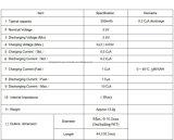 10440 célula de batería de 3.2V 200mAh LiFePO4 AAA con RoHS
