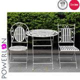 Vector y sillas determinados de los bistros del metal del jardín