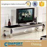 Modello bianco del basamento della Tabella di alta lucentezza TV di disegno moderno