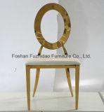 Круглая задняя часть с полым стулом венчания золота нержавеющей стали высокого качества