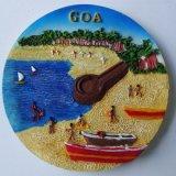 Ímã quente do refrigerador de Goa do ímã do refrigerador da resina da lembrança de India da venda