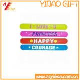 Logo imprimé personnalisé bracelet en PVC pour les cadeaux