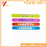 Kundenspezifischer gedruckter Firmenzeichen-Silikon-KlapsWristband für Geschenke (XY-SW-011)