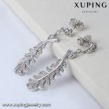 여자를 위한 94751 잎 유형 백금 도금된 보석 단 하나 돌 귀걸이 Designss