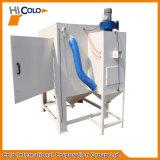 Máquina seca del chorreo de arena con la placa giratoria