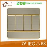 회색 색깔 고품질 전기 1-G 벽 스위치