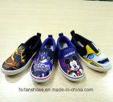 La belle impression du dessin animé du gosse chausse les chaussures de toile de chaussures d'école (FF921-8)