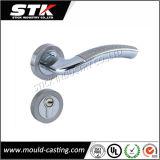 Levier en alliage de zinc d'entrée de nickel de satin avec la plaque (Z1008)