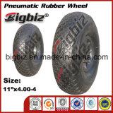 Gomma di gomma della rotella dell'automobile elastica blu del giocattolo del solido 6.00-6 di alta qualità