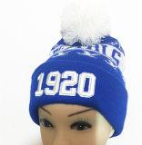 El casquillo popular europeo/tiene mujeres de las rayas de /Have de la gorrita tejida de las rayas como los casquillos promocionales de los deportes del sombrero que hacen punto y el sombrero urbano de la manera
